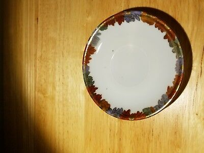 Pair of 2 Vintage Antique Hand Decorated Signed Small Plates 4.25''