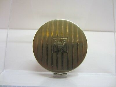 Vtg Tre-Jur Steel Makeup Powder Compact Sampler Art Deco Vanity Decor