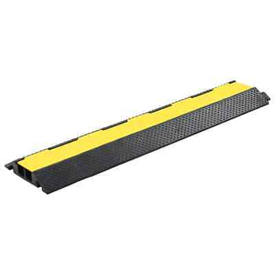 vidaXL Cable Protector Ramp 2 Channels Rubber 101.5cm Conduit Wire Road Cover