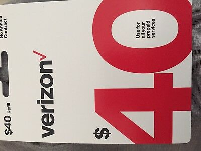 Brand new $40 verizon wireless prepaid refill card ( email deliivery)fast Answe