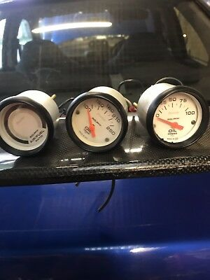 Auto Meter Phantom Gauges 52mm X3 Impreza Jdm Drift C20let Vxr