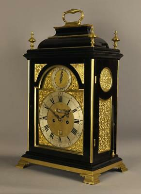 VERGE STRIKING BRACKET CLOCK WITH ALARM- Chater and Son , London