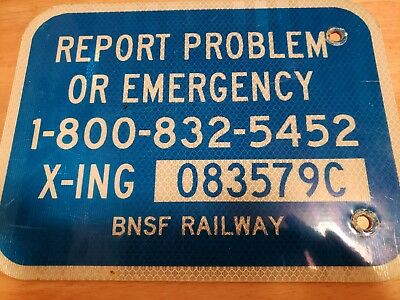 Authentic BNSF Railroad Crossing Sign