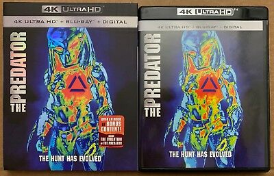 The Predator 2018 4K Ultra Hd Blu Ray 2 Disc Set + Slipcover Sleeve Free Shippin