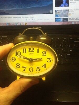 Vintage Linden W.Germany Black Forest Alarm Clock Brass Parts Free Shipping!!!!