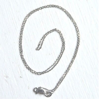 """14k Solid White Gold Link Chain Necklace 1g 16"""" long"""