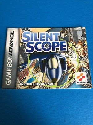 Silent Scope Nintendo Game Boy Advance GBA MANUAL ONLY! Instruction Booklet!