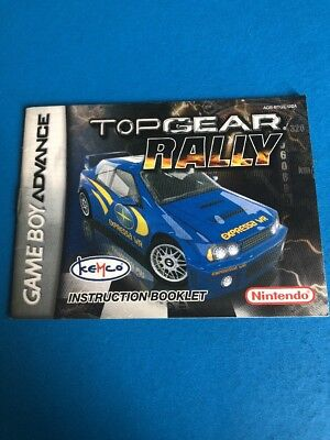 Top Gear Rally Nintendo Game Boy Advance GBA MANUAL ONLY! Instruction Booklet!
