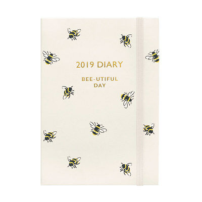 Cath Kidston 'Bumble Bee' 2019 12 Months Weekly Diary Planner A6 15x10cm (New)