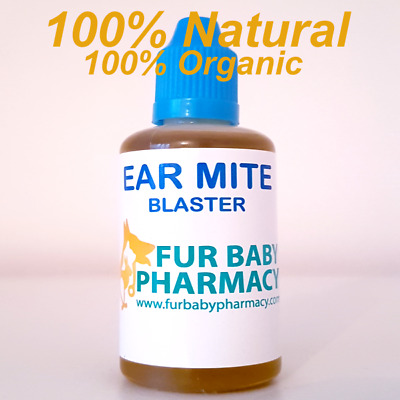 Canker Ear Drops for Dogs Cats Kills Ear Mites & Bacterial Yeast Infections 50ml