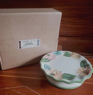 Longaberger Sunflower Candle Holder 71349 new in box Floral