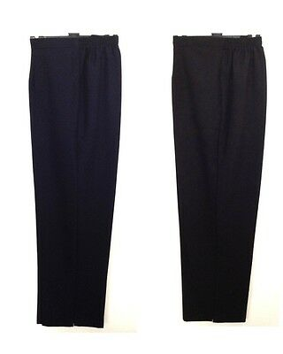 New Womens Ladies Half Elasticated Waist Trousers Pockets Pants Plus Size 28-30