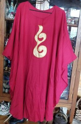 Red Vestment Gold Embelm on Front and Back