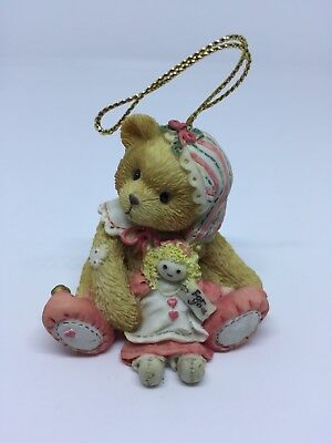 Enesco Cherished Teddy Bear Girl with Elf Hanging Ornament #625434