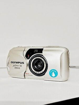 Classic Olympus Mju II Zoom 80 - 35mm Compact Film Camera - Great Condition