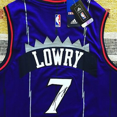 153920b494c Kyle Lowry Signed Autograph Toronto Raptors Jersey NBA Drake Fear The North