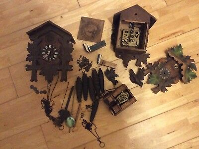 Cuckoo Clock Spares, Weights , Pendulums, Movements.