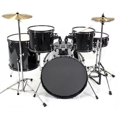 5-Piece Full Size Drum Set For Adults. Color Silver