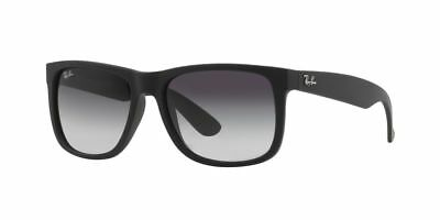 New Ray-Ban Justin Classic Sunglasses Rb 4165 601/8G - 54 Black Gray
