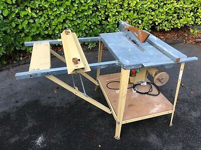 Large Scheppach 240V Table Site Saw with lockable Extension Wing Table - Germany