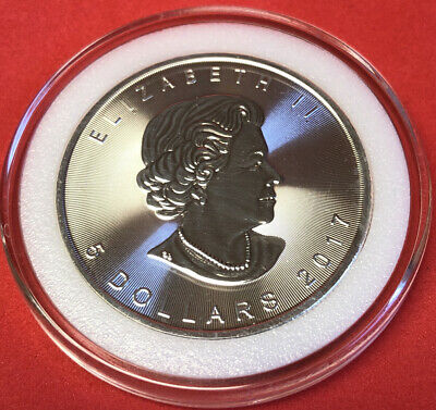 2019 Canadian Silver Maple Leaf 1oz .9999 Fine $5 Gem BU Coin In Capsule