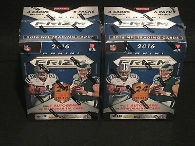 1 - Lot Of 2 New Unopened Factory Sealed 2016 Panini Prizm Football Blaster Box