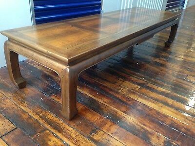 BAKER CO coffee table CHINESE Ming legs ROSEWOOD OR BLACK WALNUT circa post 1950