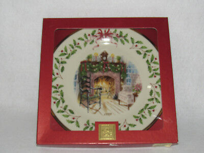 "Lenox ""winter's Warmth"" 1999 Holiday Collector's Ltd Ed Plate #9 - Mib"