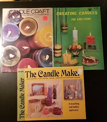 3 Vintage Candle Maker Making Book Booklets LOT