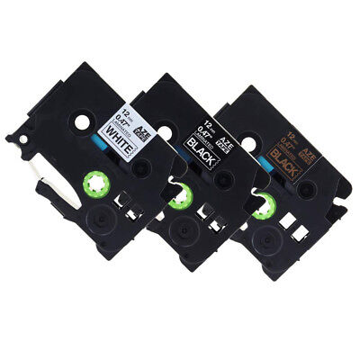 3PK TZe-231 334 335 Compatible Brother P-touch Label Tape White LabelMaker 12mm