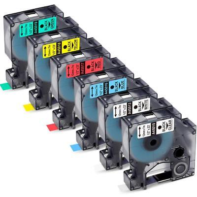6PK  45013 D1 Label Tape Compatible with DYMO Label Manager 160 Combo Set 1/2''