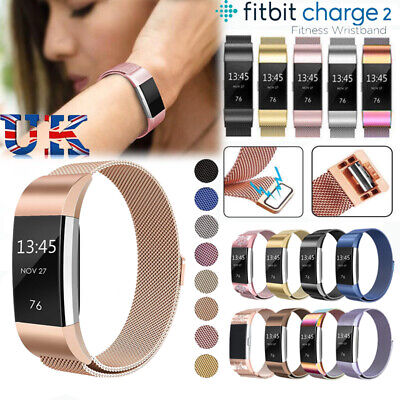 For Fitbit Charge2 Strap Replacement Milanese Band Metal Stainless Steel Magnet*