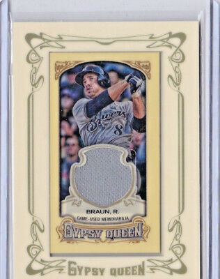 RYAN BRAUN 2014 Topps Gypsy Queen Framed Mini Relics #GMRRB MILWAUKEE BREWERS