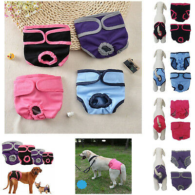 CHEAP HOT PINK M Medium Pet Dog Puppy Diapers Washable Apparel