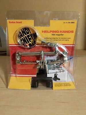 New Vintage Radio Shack Helping Hands With Magnifier