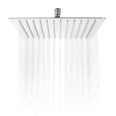 12 inch Ultra-thin Square Stainless Steel Rainfall Shower Head Top Shower Silver