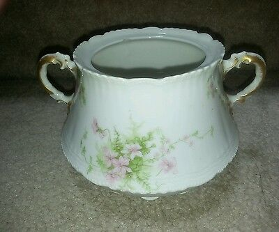 Thomas Haviland French Limoges Apple Blossums Pink Flowers Sugar Dish China