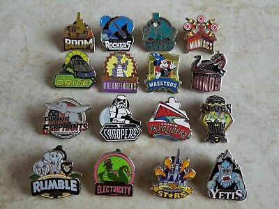 Disney Trading Pins Lot of 16 Complete Set Mascots from Pack Hatbox Mickey WDW