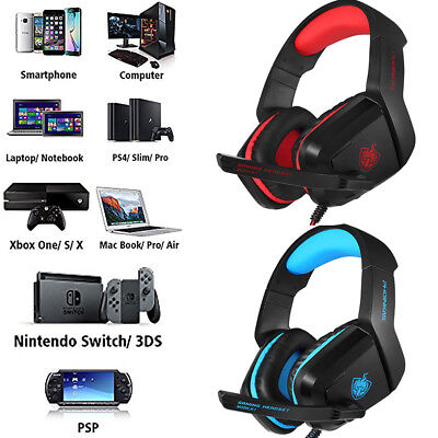 3.5mm Gaming Headset Mic Headphones Stereo Surround for Nintendo Switch Xbox