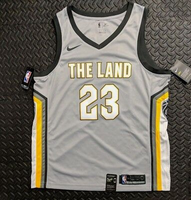 54e65b0bebc Nike Cleveland Cavaliers The Land Ctiy Edition Swingman Jersey LEBRON JAMES  52
