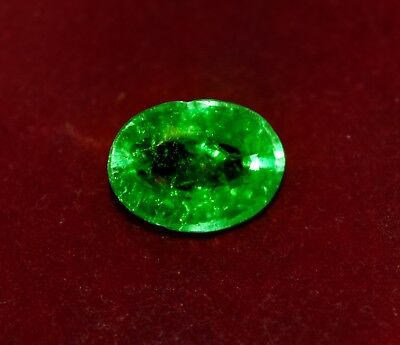 Awesome 9.10 Cts. Natural Green Emerald, Oval Shape Gemstone GGL Certified