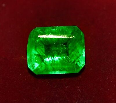 Fabulous 10.40 Cts. Natural Green Emerald, Emerald Shape Gemstone GGL Certified