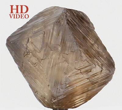 Natural Loose Diamond Crystal Rough Brown Color I1 Clarity 1.42 Ct KR1306