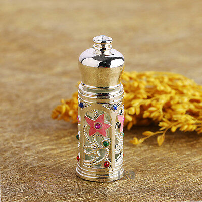 Metal Perfume Bottle Handmade Vintage Mini Crystal Empty Refillable Lady Gift