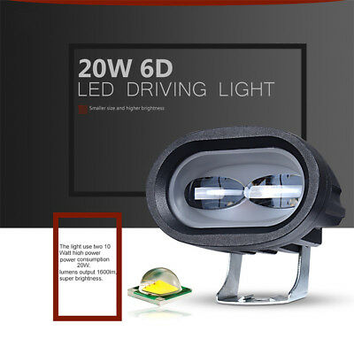 6D 20W LED Work Light Bar Car Driving Fog Spot Light Offroad Work Lamp Vehicle