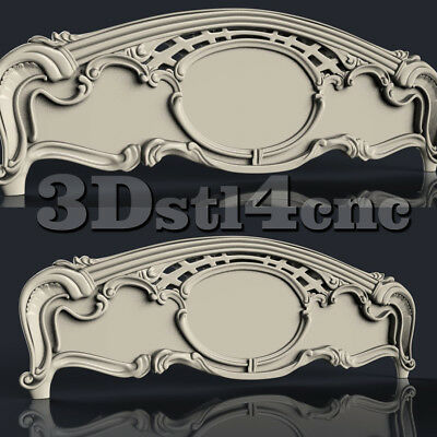 3D STL Model for CNC Router Carving Machine Bed Relief Artcam aspire Cut3D