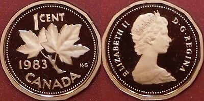 Proof 1983 Canada 1 Cent From Mint's Set