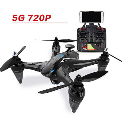 WIFI RC GW198 5G 2.4G Remote Drone + 720P Camera GPS Night Flight Helicopter Kit