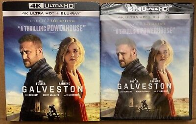 New Galveston 4K Ultra Hd Blu Ray 2 Disc Set + Slipcover Sleeve Free Shipping