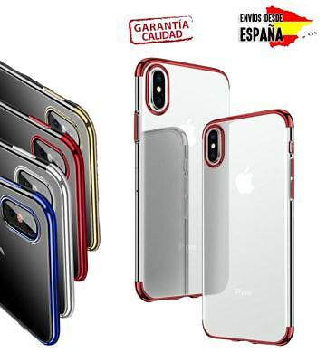 Funda 360 hybrid para iPHONE X XS XR XS MAX Premium case transparente flexible